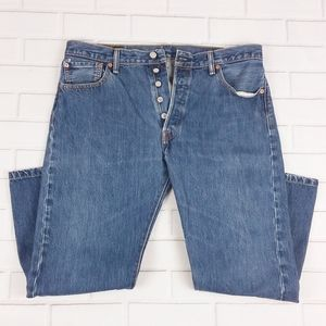 Levi's 501 Sz 36X26 Jeans Straight Fit Button Fly